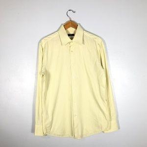 BOSS Hugo Boss ENZO Yellow Striped Dress Shirt- 16